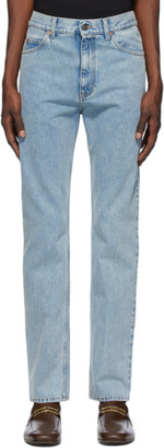 Gucci Blue Stone Bleach Regular Fit Jeans