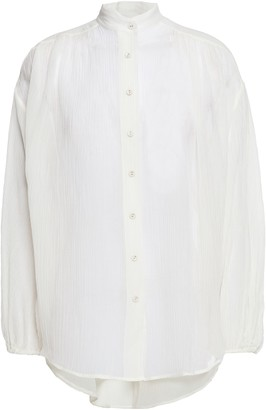 Zimmermann Gathered Crinkled Gauze Shirt