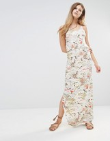 Only Racer Back Maxi Dress In Floral Print