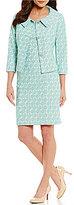 Albert Nipon Bonded Lace Dress Suit