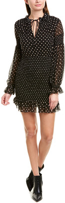 Nicholas Smocked Silk Mini Dress