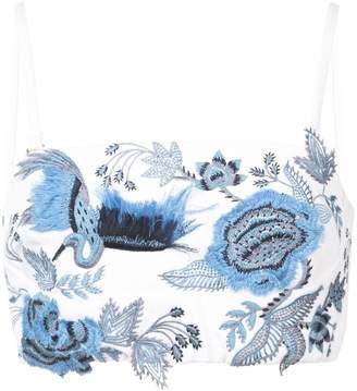 Josie Natori embroidered bralet