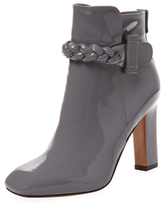 Valentino Patent Leather Braided Bootie