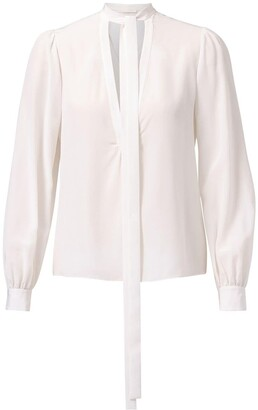 Jason Wu Collection Tie-Neck Silk Blouse