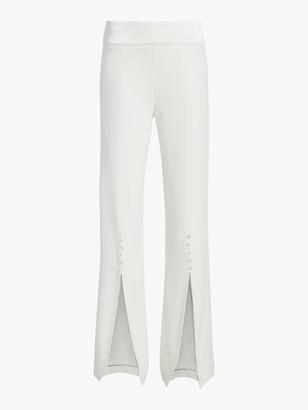 Jonathan Simkhai Deconstructed Satin Crepe Front Slit Pant