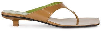 BY FAR Jack 25 brown patent leather sandals