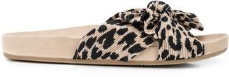 Loeffler Randall Leopard-Print Flat Sandals