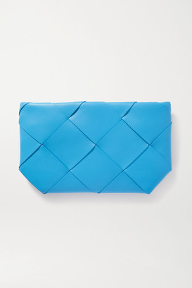 Bottega Veneta Intrecciato Leather Pouch - Blue
