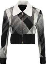 Roland Mouret Cero cropped printed wool-blend crepe jacket