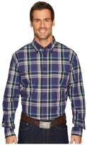 Roper 1260 Plaid Long Sleeve Top Men's Long Sleeve Pullover