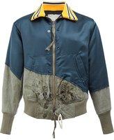 Greg Lauren panelled bomber jacket