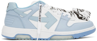 Off-White White and Blue Out Of Office Sneakers