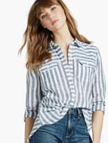 Lucky Brand Stripe Split Back Shirt