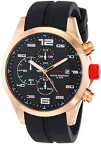Redline red line Men's RL-50042-RG-01 Stealth Chronograph Textured Dial Silicone Watch