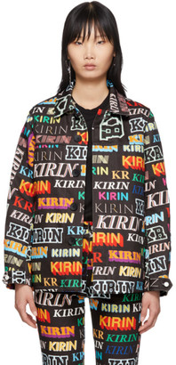 Kirin Black Denim Typography Jacket