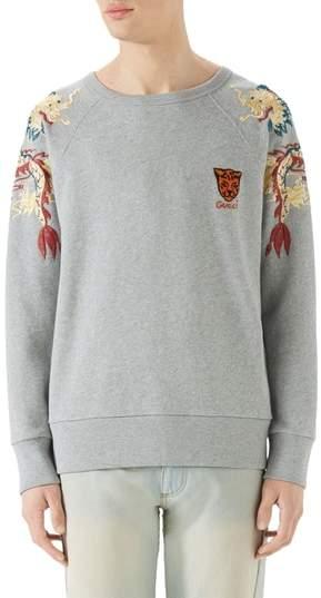 Gucci Dragon Embroidered Crewneck Sweatshirt