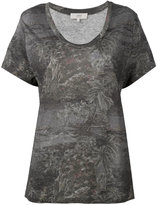 Vanessa Bruno floral print T-shirt - women - Linen/Flax - 36