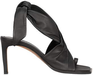 Tibi Axel Tie Ankle Leather Sandals