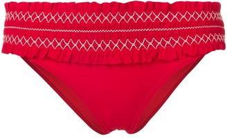 Tory Burch ruffled bikini bottoms