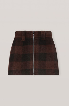 Ganni Double Wool Mini Skirt