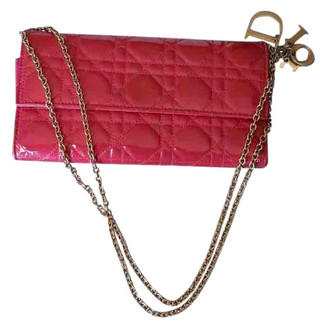 Christian Dior Lady Pink Patent leather Clutch bags