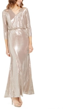 Calvin Klein Sequined Cutout Gown