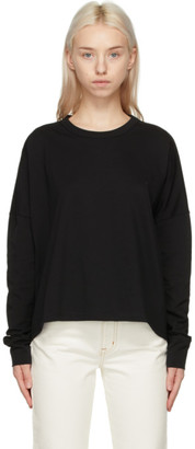 Studio Nicholson Black Cotton Long Sleeve T-Shirt