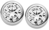 Michael Kors Crystal Bezel Stud Earrings