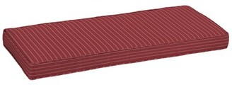 Longshore Tides Outdoor Bench Cushion Fabric: Red