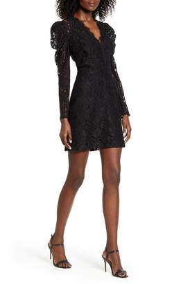 WAYF Spencer Puff Shoulder Long Sleeve Lace Dress