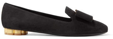 Salvatore Ferragamo Sarno Suede Loafers - Black
