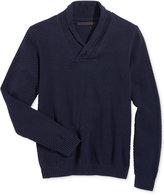 Sean John Men's Big & Tall Cable-Knit Shawl-Collar Sweater