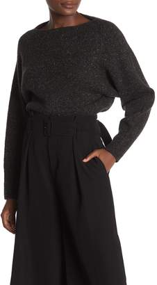 Vince Cropped Cashmere Boatneck Sweater