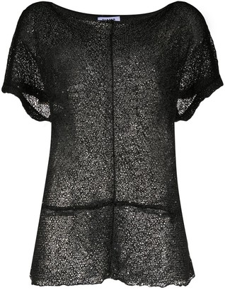P.A.R.O.S.H. sequin-embellished mesh T-shirt