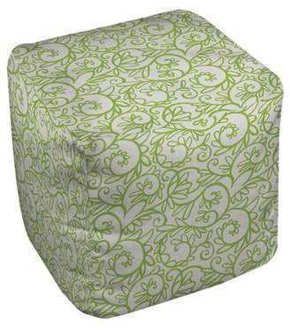 Manual Woodworkers & Weavers Funky Funky Florals Swirl Pouf Ottoman Manual Woodworkers & Weavers
