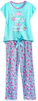Max & Olivia 2-Pc. Love Pajama Set, Big Girls (7-16)