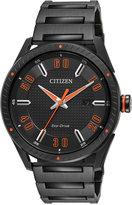 Citizen Men's Drive Black Ion-Plated Stainless Steel Bracelet Watch 42mm BM6995-51E