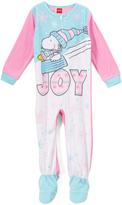 Komar Kids Peanuts Blue & Pink 'Joy' Footie - Toddler