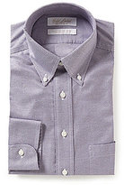 Roundtree & Yorke Gold Label Houndstooth Classic Fitted Non-Iron Twill Dress Shirt