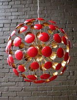 The Well Appointed House Bilbao Red and Gold Leaf Chandelier