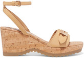 Stella McCartney Faux Leather Wedge Sandals - Beige
