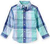 Class Club Little Boys 2T-7 Long-Sleeve Large Plaid Sportshirt