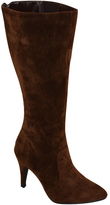 Platinum Brown Pointed-Toe Stiletto Wide-Width Boot
