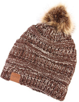 Riah Fashion Pom Knit Beanie