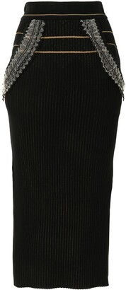 Mame Kurogouchi Ribbed Knit Skirt