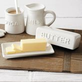 Sur La Table Embossed Butter Dish