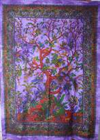 9 Apparels Poster Tree Tapestry Multi colour Purple Base Background colour Tapestry Throw Decor Art
