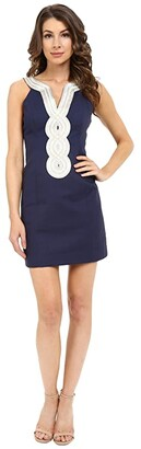 Lilly Pulitzer Valli Shift Dress (True Navy) Women's Dress