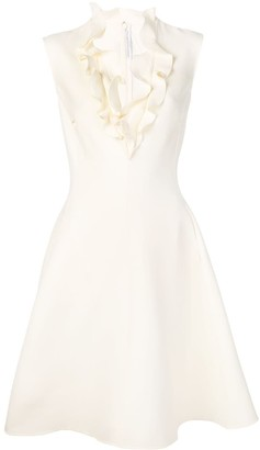 Ermanno Scervino Ruffle-Trimmed Dress