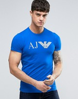 Armani Jeans Eagle Logo T-Shirt Slim Fit in Blue